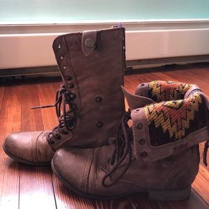 Steve Madden Chevy leather  boots women brown